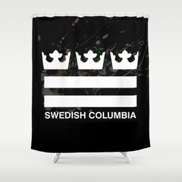 Swedish Columbia Logo (Classic) Shower Curtain