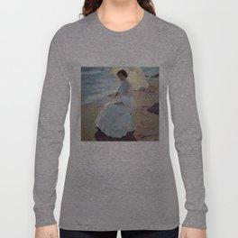 Clotilde on the Beach - Joaquín Sorolla Long Sleeve T-shirt