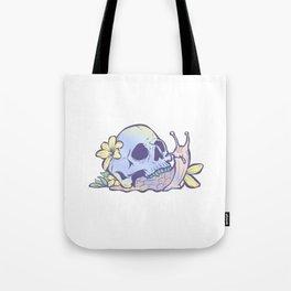 Pastel Goth Kawaii Eboy Egirl Emo Cute Skull Snail Grunge Tote Bag