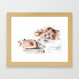 Challah Bread Framed Art Print