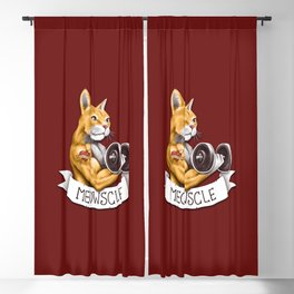 Meowscle Blackout Curtain