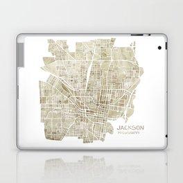 Jackson Mississippi watercolor city map Laptop & iPad Skin