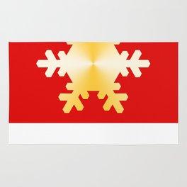 Gold Snowflake Rug