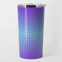 Dark teal purple black ombre hexagon grid Travel Mug