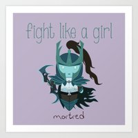 dota Art Prints featuring Fight Like a Girl - Dota's Phantom Assassin by ~ isa ~