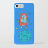 spaceman iPhone & iPod Cases featuring spaceman by PINT GRAPHICS