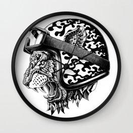 Tiger Helm Wall Clock
