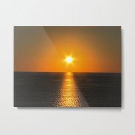 Caribbean Ocean Sunset Metal Print