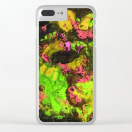 Rasta River Flow (Alcohol Inks Series 06) Clear iPhone Case