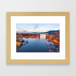 Vancouver Sunset Framed Art Print