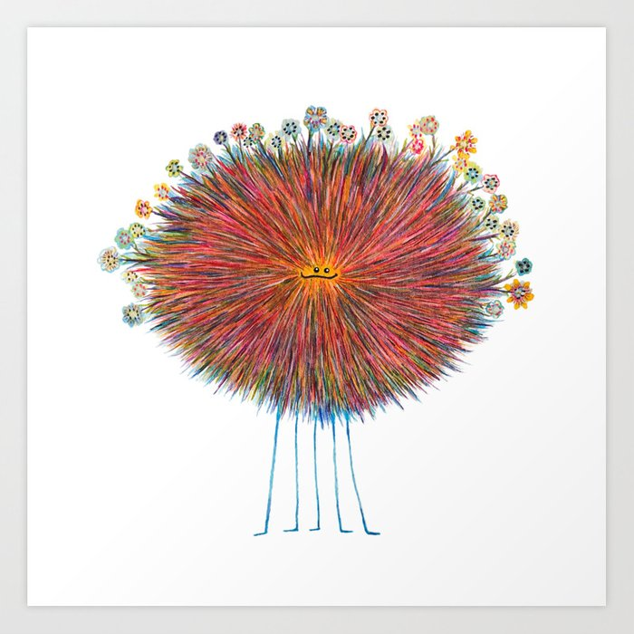 Poofy Frizzle Muff Art Print