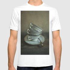 White teacups set Mens Fitted Tee White MEDIUM