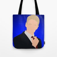 how i met your mother Tote Bags featuring Barney Stinson - How I Met Your Mother by Tom Storrer