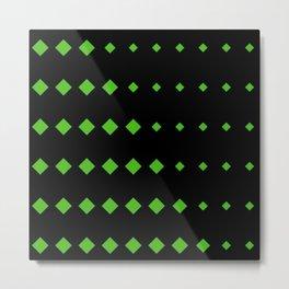 Kelly Green Diamonds w/Black Background Metal Print