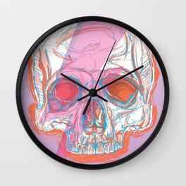 space rockstar skull Wall Clock