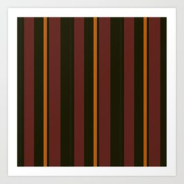Lines of Brown and Orange Art Print