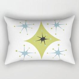 Mid Century Modern — Atomic Age Pattern Shapes Rectangular Pillow