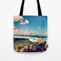 salt water Tote Bags featuring Salt Water Cure by JustPirez! Magazine