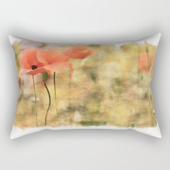 Poppy meadow -  photoadaption Rectangular Pillow