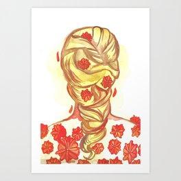 Marigold Hair Art Print