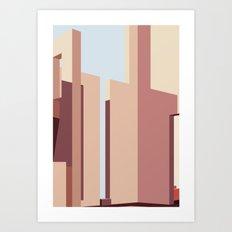 Geometric Landscapes of La Muralla Roja 2 Art Print