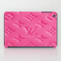 lv iPad Cases featuring Pink LV by I Love Decor