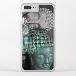 Scattered Buddhas Clear iPhone Case