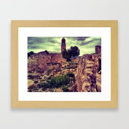Poble vell de Corbera 2 Framed Art Print