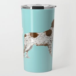 Brittany Spaniel dog breed funny dog fart Travel Mug
