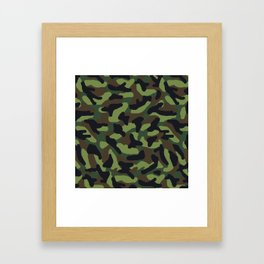 Green Camo Camouflage  Framed Art Print