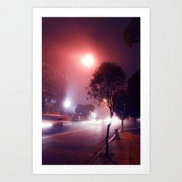 Nighttime Drive-By Art Print