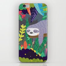 Sloth in nature iPhone & iPod Skin