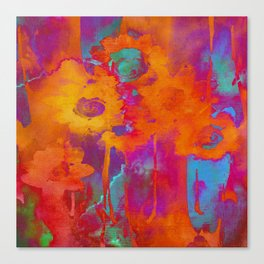 bright abstract bouquet Canvas Print