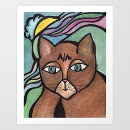 Scooter and the Wavy Rainbow Art Print