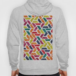 Seamless Colorful Geometric Pattern XII Hoody