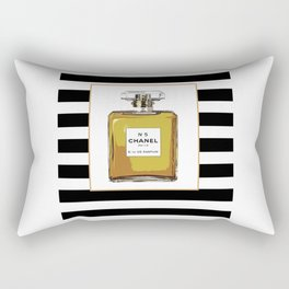 Fashion Art French Decor Fashion IllustrationPrint Perfume,Perfume Print Coco Mademoiselle Fashionis Rectangular Pillow