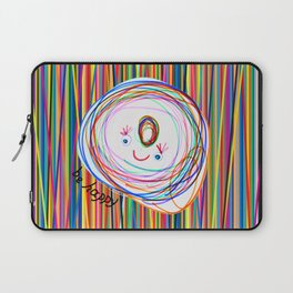 Be Happy | Smile | Stay Child | Kids Painting Laptop Sleeve