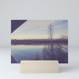 A perspective on the lake Mini Art Print