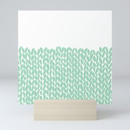 Half Knit Mint Mini Art Print