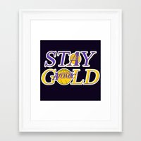lakers Framed Art Prints featuring Stay Gold by Ant Atomic