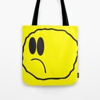 coldplay Tote Bags featuring Lonely Meatball - Yellow by kiwimonk