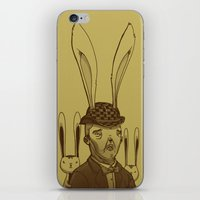 minions iPhone & iPod Skins featuring The Rabbit Man by Michael B. Myers Jr.