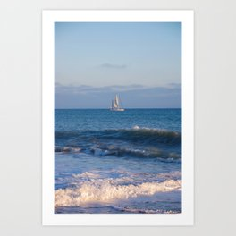 Lets Go Sailing Art Print