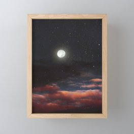 Dawn's moon Framed Mini Art Print