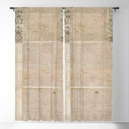 1661 Royal Charter for the State of Rhode Island and Providence Plantations from King Charles II Blackout Curtain