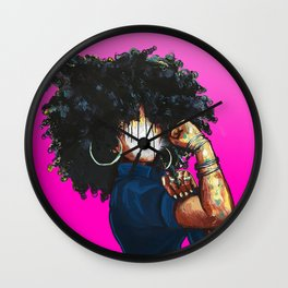 Naturally the Riveter PINK  Wall Clock
