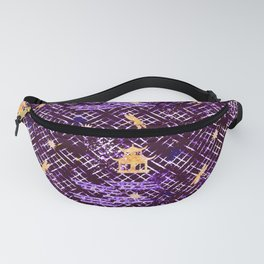 Golden Shibori (Purple) Fanny Pack