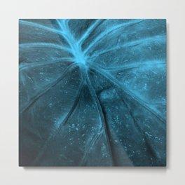 Abstract Leaf Blue Metal Print