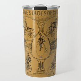 The five stages of cycling (bicycle history) Travel Mug