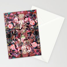 Pink Spot Floral Stationery Cards